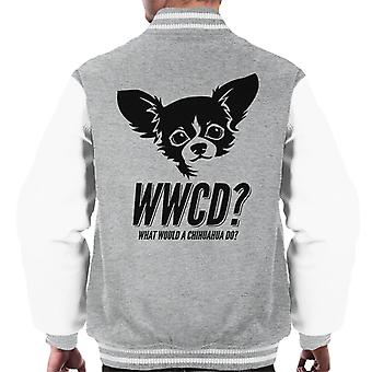 What Would A Chihuahua Do Men's Varsity Jacket