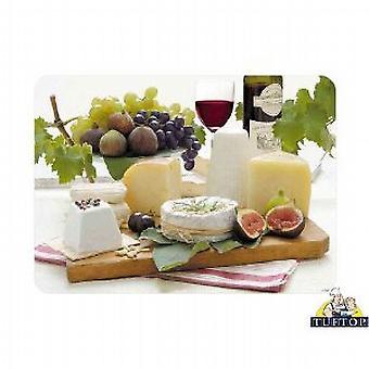 Premium Glass Chopping Board Medium Enjoy Cheese Design