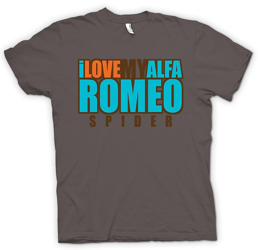 Mens T-shirt - I love my Alfa Romeo Spider - Car Enthusiast