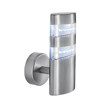 Searchlight 5308 Chrome LED Outdoor Wall Light | IP44