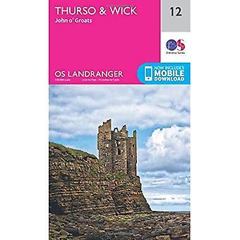 Landranger (12) Thurso & Wick, John OGroats (OS Landranger Map)