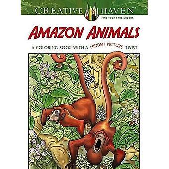 Kreativa oas Amazon djur: En målarbok med en dold bild Twist (kreativa oas målarböcker)