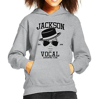 Michael Jackson Vocal Coaching Team Kid's Hooded Sweatshirt