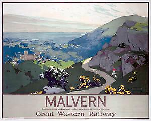 Malvern (old rail ad.) fridge magnet
