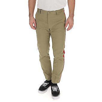 Dolce E Gabbana Green Cotton Pants