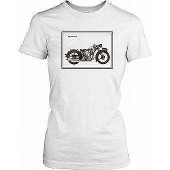 BSA 1930 Sloper - Classic Motorbike Ladies T Shirt