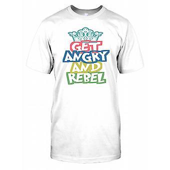 Wütend und rebellieren - mit einer Krone-Herren-T-Shirt