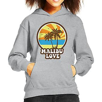 Malibu Love Retro Sunset Kid's Hooded Sweatshirt