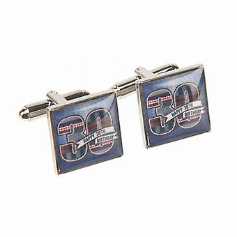 Mens LD Design Denim Collection 30th Birthday Cufflinks In Presentation Gift Box