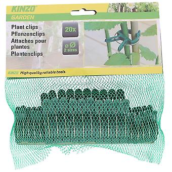 Plant clips PP 20pcs Plant Holder Plant Binder Plastic Green