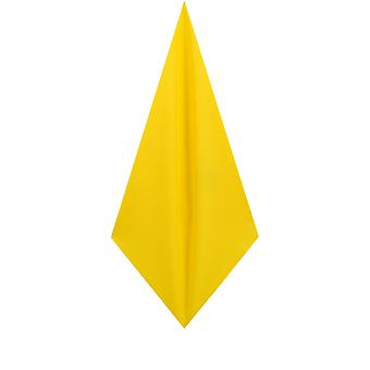 d/Spoke Mens Lemon Yellow Pocket Square Handkerchief Satin Feel Fabric Evening Partywear Accessory