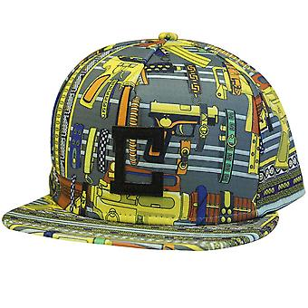 Crooks & Castles Golden Arms Strapback Baseball Cap Gold Multi