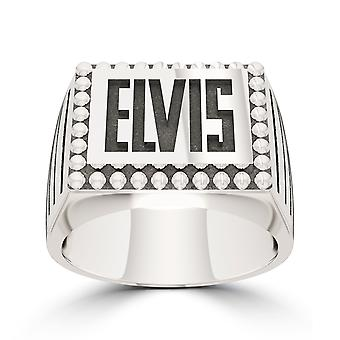 Elvis Presley Large Name Ring In Sterling Silver