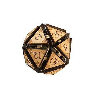 Crafts - 20 sided dice - art kit - raw wood 1.5