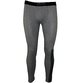 Boss Logo Block Long Johns, grau Melange