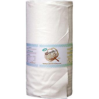 Warm & White Cotton Batting By The Yard Full Size 90