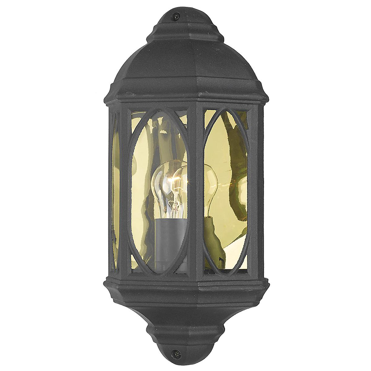 Dar TEN2122 Tenby Outdoor Single Wall Light With A Black Finish