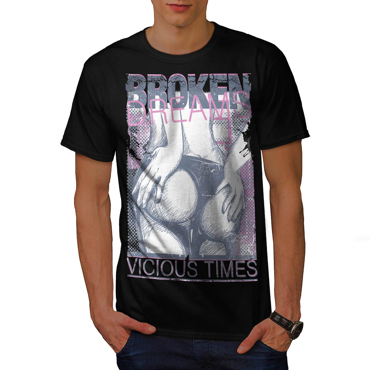 Broken Dreams Vicious Time Bum Men Black T-shirt | Wellcoda