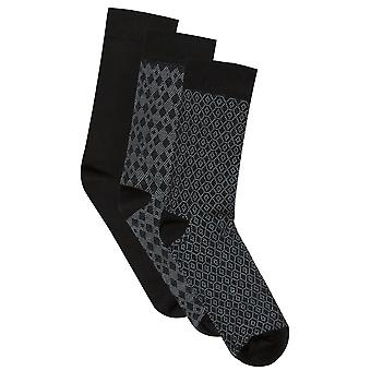 BadRhino Black Textured 3 Pack Socks