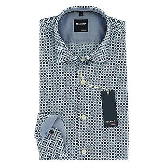 Olympus casual shirt S (37/38) long sleeve blue