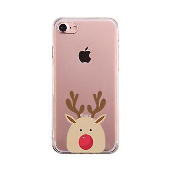 Rudolph Big Face Transparent telefon fall söt tydlig Phonecase