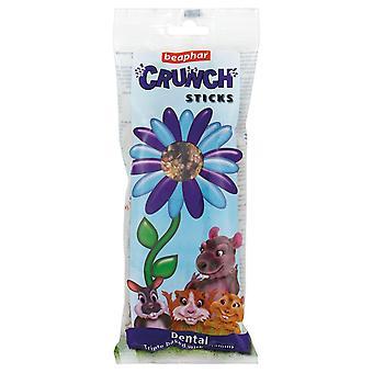 Crunch animales pequeños beaphar palillos dentales 2pk (paquete de 6)