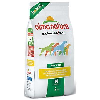 Almo Nature holistisk hund Medium kylling & ris 2kg
