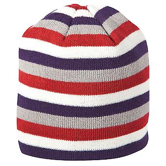Caterpillar C1128103 Ladies Worwear Hat Stripped Knitted Female Berry