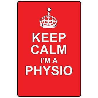Keep Calm I'm A Physio Car Air Freshener