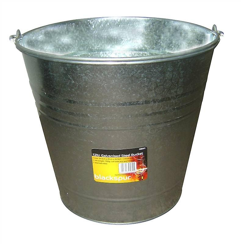 12ltr Galvanised Steel Bucket