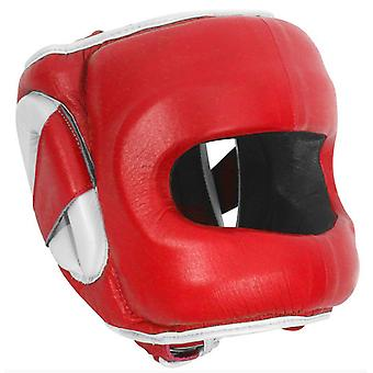 Ringside Deluxe Face Saver Boxing Headgear - Red