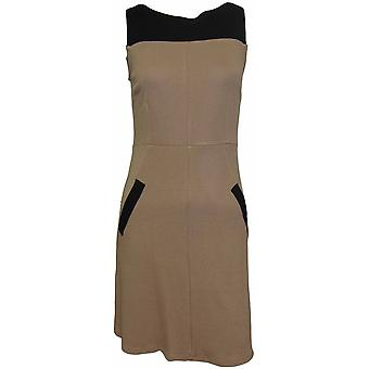 DP Petite Caramel Contrast Shift Dress
