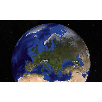 The Blue Marble Next Generation Earth showing Europe Poster Print
