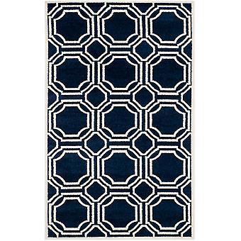 Moderne marokkansk fliser marineblå tæpper - Safavieh