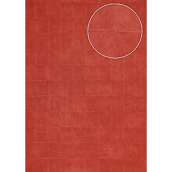 Stone tiles wallpaper Atlas IN the-5080-8 structure wallpaper imprinted with geometric shapes shiny red brown red perl Ruby Red 7,035 m2