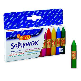 Jovi Cajita 10 Barras Cera Softywax (Toys , School Zone , Drawing And Color)