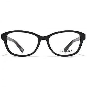 Carvela Large Oval Glasses In Black