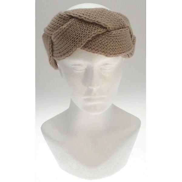 W.A.T Beige Knitted Cable Headband