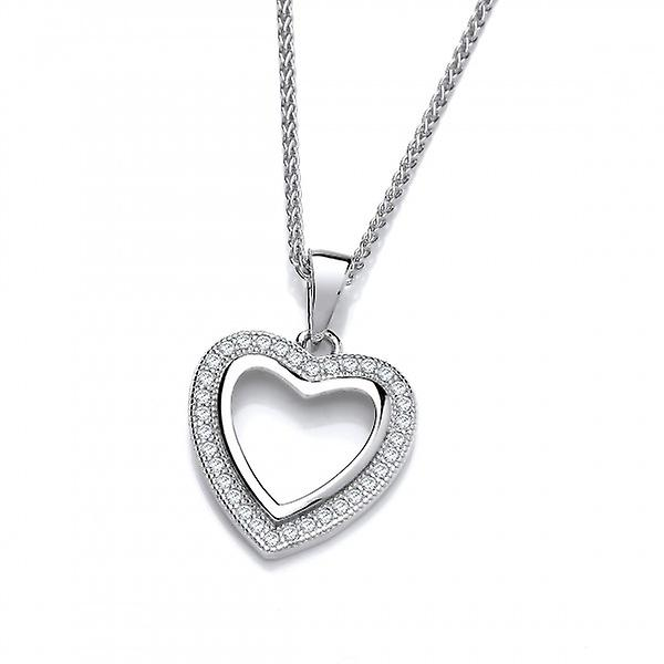 Cavendish French Open your Heart Silver and CZ Pendant without Chain