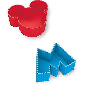 Sæt af 4 silicium skimmelsvampe Mickey Mouse Disney kage Design
