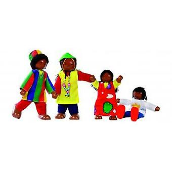 Goki Flexible puppets African family