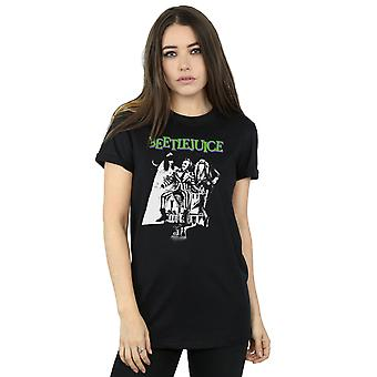 Beetlejuice Women's Mono Poster Boyfriend Fit T-Shirt
