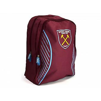 West Ham FC Official Football Swerve Backpack/Rucksack