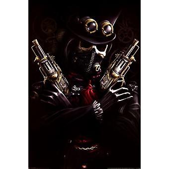 Spiral - Steampunk Bandit Poster Poster Print