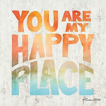 Eres mi feliz lugar cartel imprimir por Susan Ball (12 x 12)