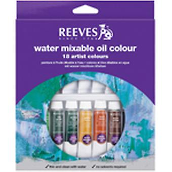 Reeves Water mengbare olieverf 10Ml 18 Pkg assorti kleuren 8200201