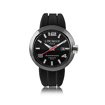 Locman men's 0425BKCBNNK0SIKRSK black steel watch