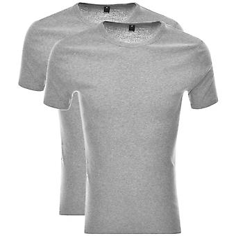 G-Star-2 Pack base coton gris Heather T-shirt