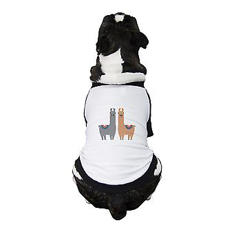 اللاما نمط الحيوانات الأليفة لعبة البيسبول جيرسي الكلاب الصغيرة الملابس