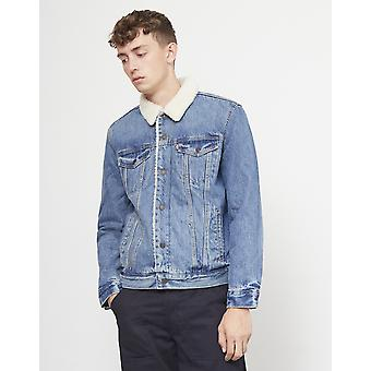 Levi's Type 3 Sherpa Trucker Jacket Blue